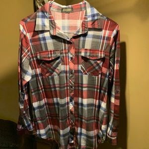 G Collection Long Sleeve Plaid Shirt